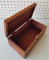 Wood Box with Lock and Key