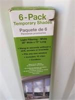 6 Pack Temporary Shades