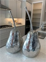 2 PC SILVER PEARS