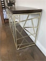 PRESIDENT METAL FURN CONSOLE TABLE