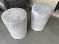2 PC CERAMIC STOOL/TABLE