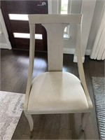 DINING TABLE, LEAF & 6 CHAIRS