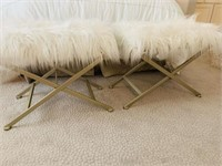 2 PC FUR BENCHES
