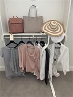 ASSORTED CLOTHES & PURSES