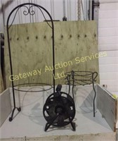 Metal Plant Stands and Hose Reel