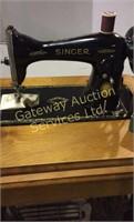 Antique Singer Trundle Sewing Machine