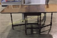 3 Way Wooden Table With Both Sides Out It Is 5.9..