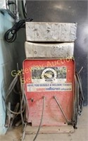 Lincoln AC Electric Welder w/ Cables, Welding Rods