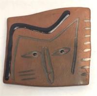Arts & Crafts Ceramic Brooch
