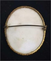 Cameo Brooch with Women's Head