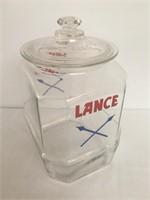 Tall Lance Jar with Lid - Circa 1930-1950
