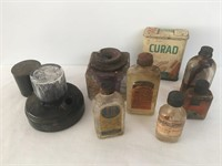 Ink Well and Medicine Bottle Lot