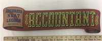 Wood Accountant Sign