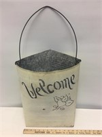 Metal Welcome Display with Fake Plant