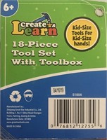 Create and Learn 18-Piece Tool Set with Toolbox