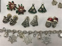 Large Lot of Misc. Christmas Jewelry