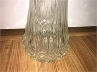 "Clear Pressed Glass Vase -  2' 2"" Tall"