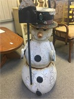 Five Piece Metal Snowman