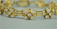 14K DIAMOND BRACELET, 4.40CTW