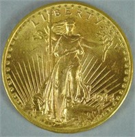 1914-D $20 DOUBLE EAGLE US GOLD COIN