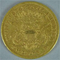 1873 $20 DOUBLE EAGLE US GOLD COIN