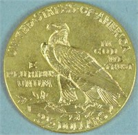 1915 INDIAN HEAD $2.50 GOLD COIN