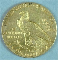 1911 US INDIAN HEAD $2.50 QUARTER EAGLE GOLD COIN