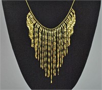 14K TASSEL LINK NECKLACE