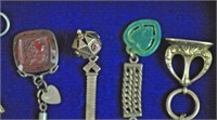 (13) VINTAGE WATCH CHAINS & FOBS