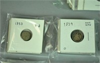 LARGE GROUP 19THC. US COINS - MOST SILVER