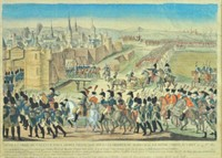 FRENCH HAND COLORED NAPOLEONIC WARS ENGRAVING
