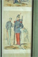 (3) FRENCH HAND COLORED MILITARY ENGRAVINGS