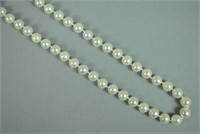 CULTURED PEARL NECKLACE WITH GOLD CLASP