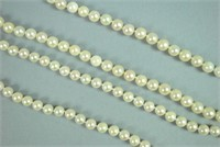 (2) CULTURED PEARL NECKLACES WITH GOLD CLASPS