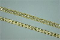 (2) FANCY LINK BRACELETS