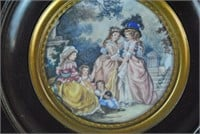 (4) FRAMED PAINTED MINIATURES