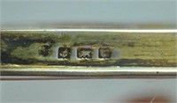 (2) ENGLISH STERLING & GUILLOCHE VANITY ITEMS