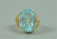14K TOPAZ DINNER RING
