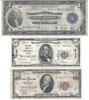 (3) EARLY US CURRENCY NOTES
