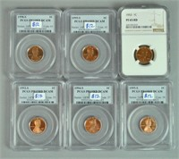 (18) GRADED US 1 CENT COINS