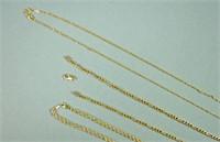 (3) GOLD NECKCHAINS