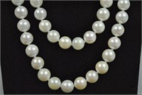OPERA LENGTH CULTURED PEARLS WITH GOLD CLASP