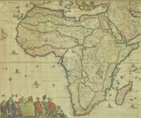 MORTIER & DE WITT HAND COLORED MAP OF AFRICA