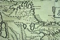 EARLY JONATHAN DICKENSON MAP OF CUBA