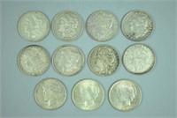 (11) US SILVER DOLLARS - MORGANS & PEACE