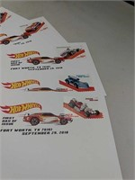 Lot of Hot Wheels Paper Goods
