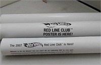 Lot of 3 Hot Wheels Posters Red Line Club