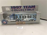 1997 Matchbox NFL Detroit Lions Semi