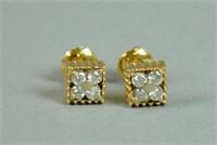 PAIR 18K DIAMOND EARSTUDS