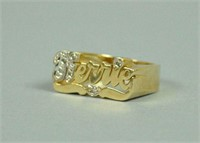 14K 'KERRIE' RING ACCENTED WITH DIAMONDS